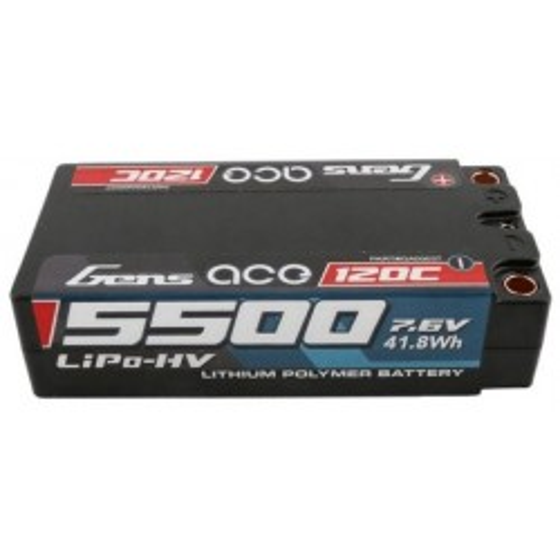 Akumulator Gens Ace 5500mAh 7.6V 100C 2S2P Shorty Black HardCase