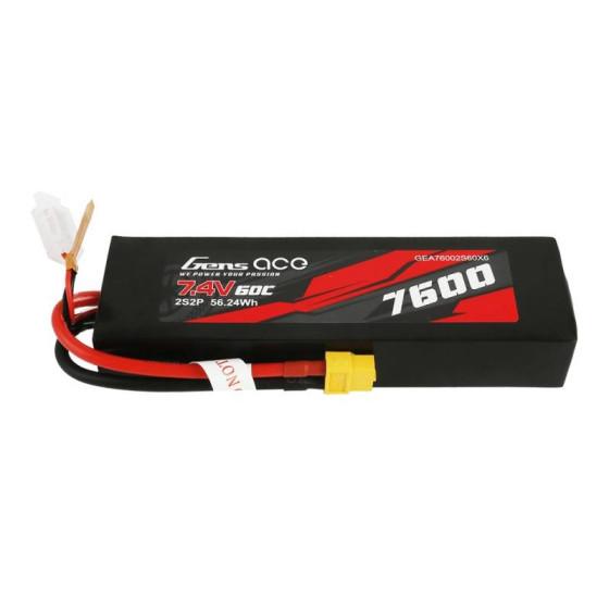 Akumulator Gens Ace 3000mAh 7,4V 50100C 2S1P T-plug HardCase