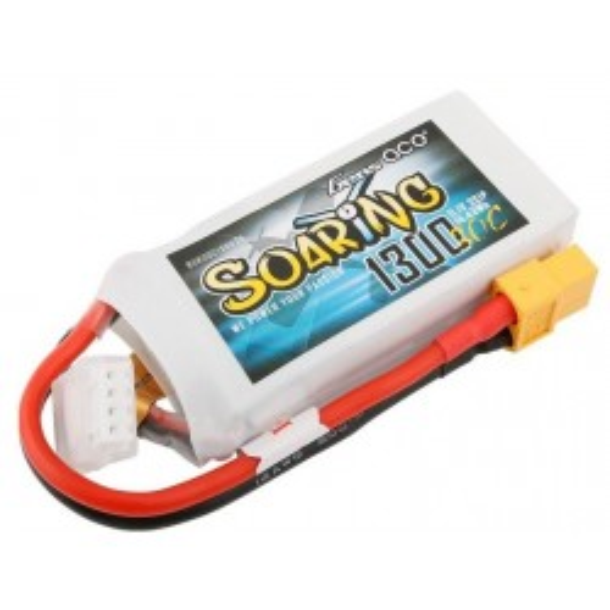 Akumulator Gens Ace Soaring 1300mAh 11.1V 30C 3S1P XT60