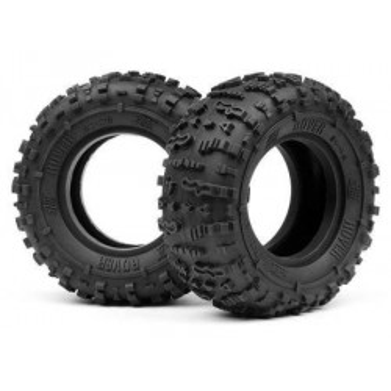 HPI Rover 1.9 Tire (Red/Rock Crawler/2Pcs)