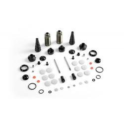 XRAY XB8'16 REAR SHOCK ABSORBERS + BOOTS COMPLETE SET (2)